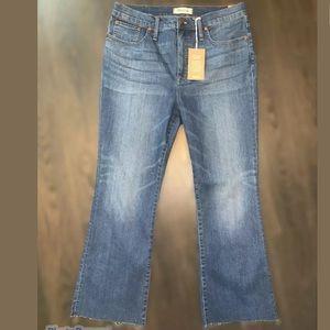 Madewell Cali Demi boot wash jeans